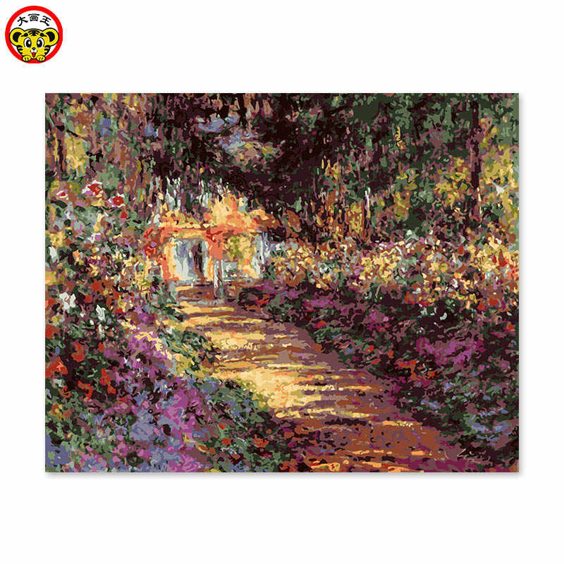 painting by numbers art paint by number home decor painting decorative painting color painted their own Monet garden impression