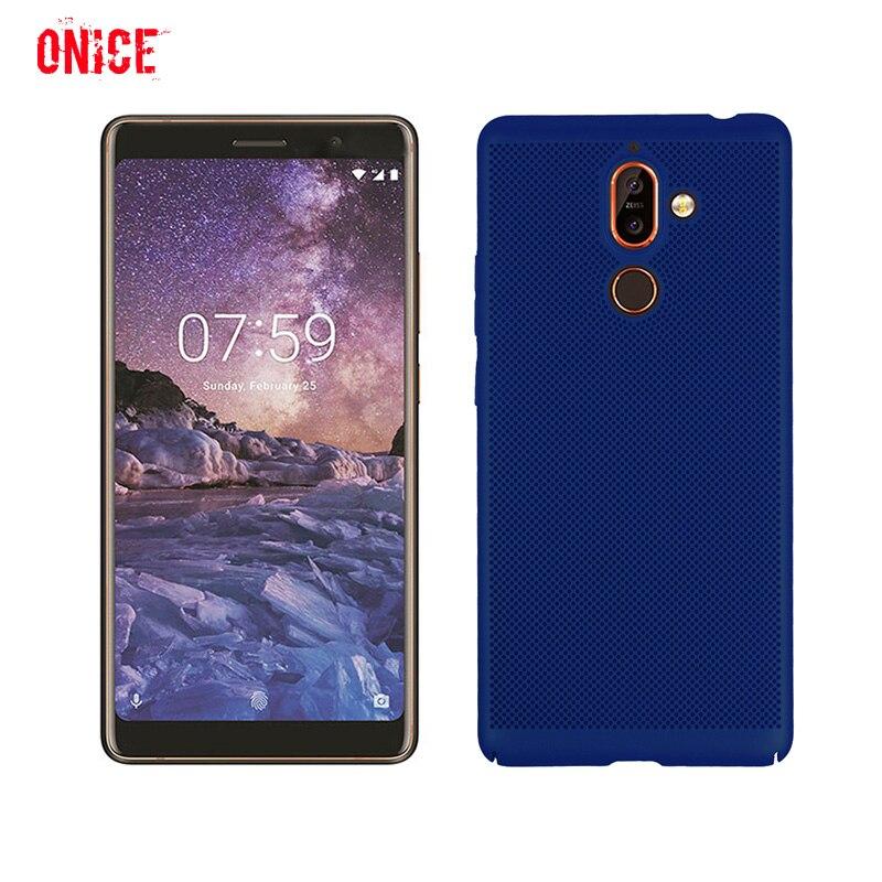 7 Plus Mesh Radiating Phone Case on for Nokia 7 Plus Hard Case Cover Fundas for Nokia 3 5 8 9 Nokia 6 2018 Case Coque Men Women