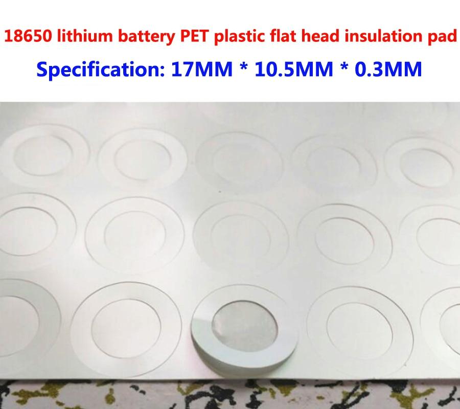 100pcs/lot 18650 Lithium Battery PET Plastic Positive Electrode Hollow Head Insulation Pad Original Gasket