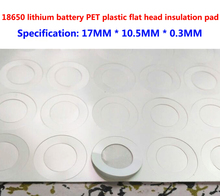 100pcs/lot 18650 lithium battery PET plastic positive electrode hollow head insulation pad original gasket 2 pcs flexible pvc battery terminal covers positive negative insulation boots protector automobile for cars boats and trucks