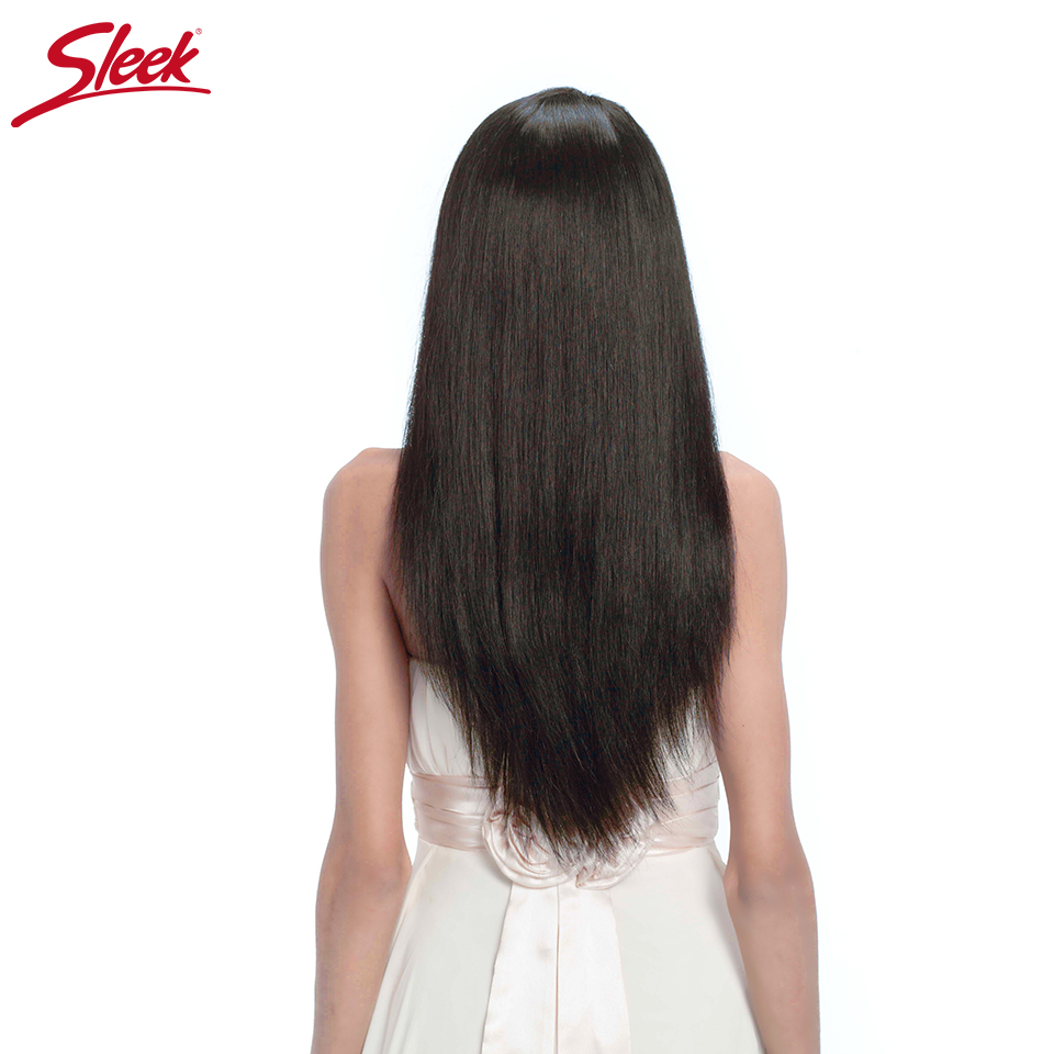 Sleek Hair Lace Front Human Hair Wigs For Black Women Brazilian Lace Wig Straight Remy Human Hair With Baby Hair 10-24 Inch