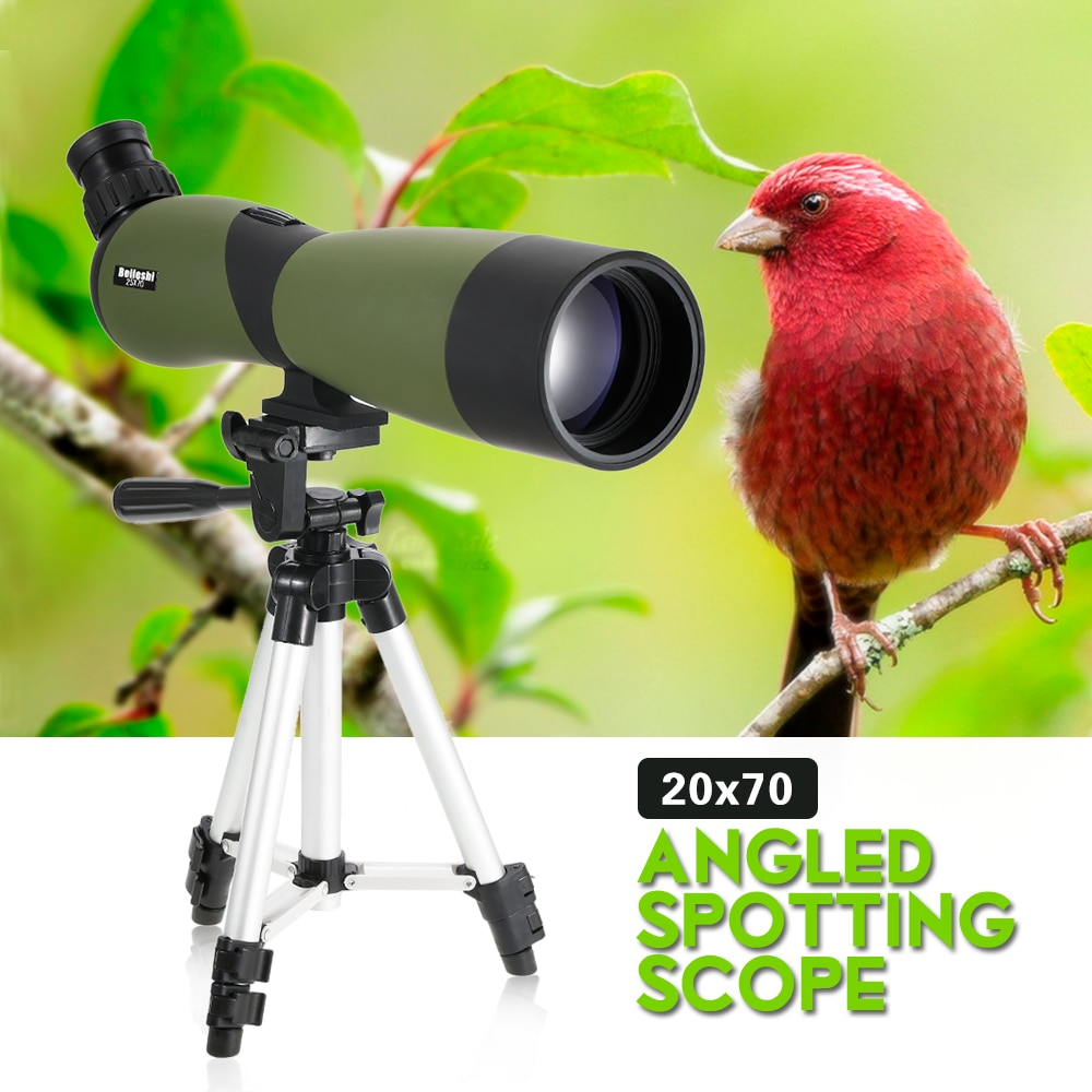 Angled Spotting Scope BaK4 Monocular Telescope Waterproof Fogproof Portable Travel Scope with Tripod Carry Case for BirdWatchingAngled Spotting Scope BaK4 Monocular Telescope Waterproof Fogproof Portable Travel Scope with Tripod Carry Case for BirdWatching