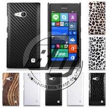 Для Nokia Lumia 730 Оригинальный PC + Кожа Люкс Leopard & Крокодил Hard Case Задняя Крышка Кожи Резина Для Nokia 730 + Подарок