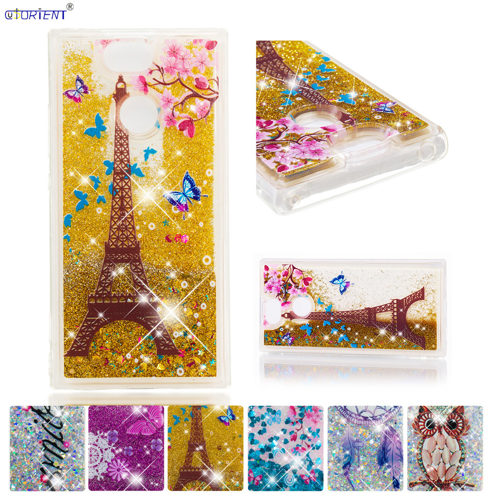 Half-wrapped Case Glitter Case For Sony Xperia Xa2 Bling Dynamic Liquid Quicksand Fitted Cover H4113 H4133 H3113 H3123 H3133 Phone Cases Funda An Enriches And Nutrient For The Liver And Kidney Phone Bags & Cases