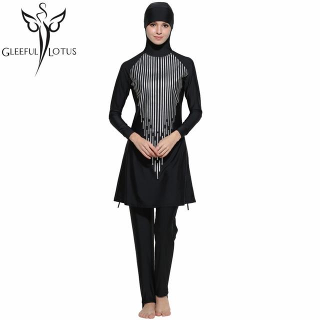 51d13fa8d1a women female Islamic swimwear full coverage bathing suits plus size tankini  muslim long sleeve swimsuits modest