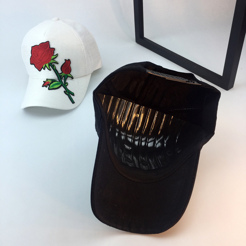 2fae7ad1199ca Beautiful cheap Unisex Applique Floral Baseball Cap Unisex Snapback Hip Hop  Flat Hat womens baseball caps men hats gorras mujer