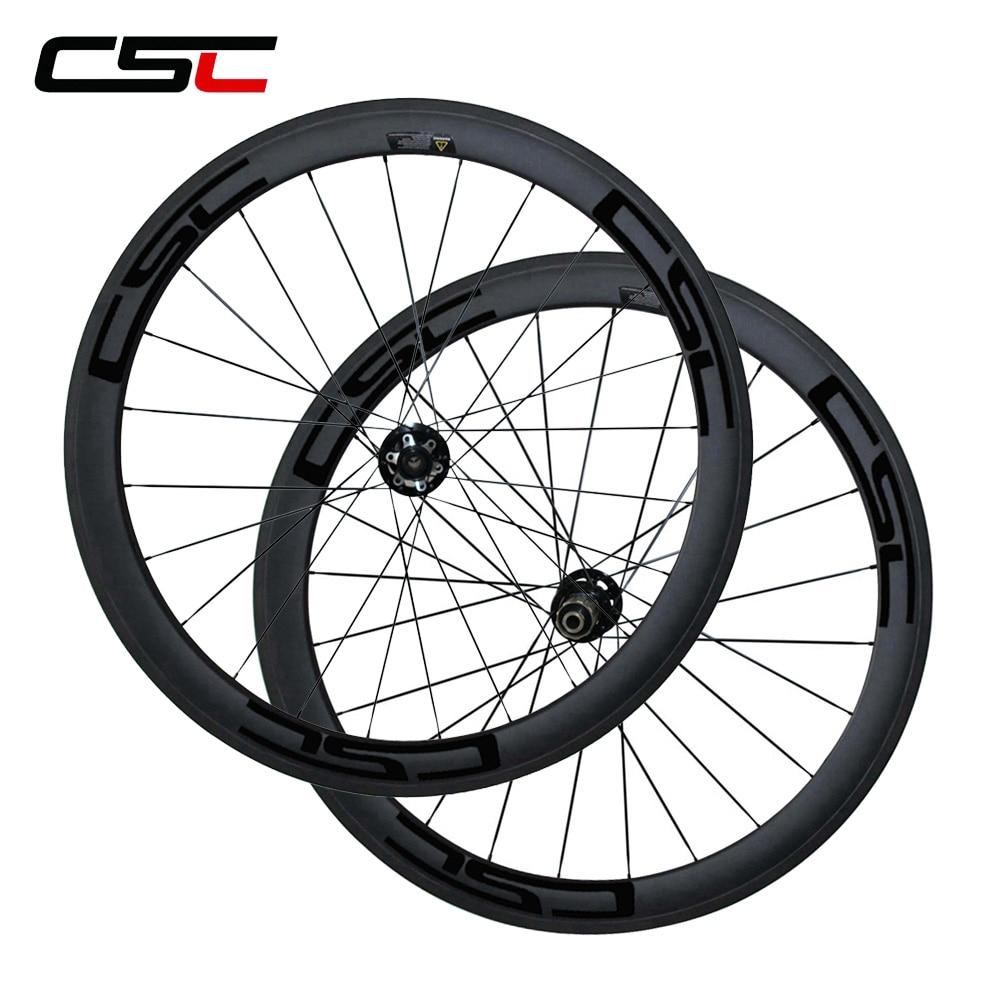 CSC 700C Novatec Disc Brake hub full carbon fiber 50mm clincher 23mm width cyclocross wheels 24