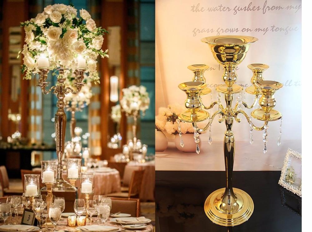 Latest Tall Large Crystal Wedding Candelabra Centerpiece 6535inch 5