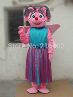 High Quality Abby Mascot Costume Sesame Street Abby Mascot Costume Elmo Free Shipping