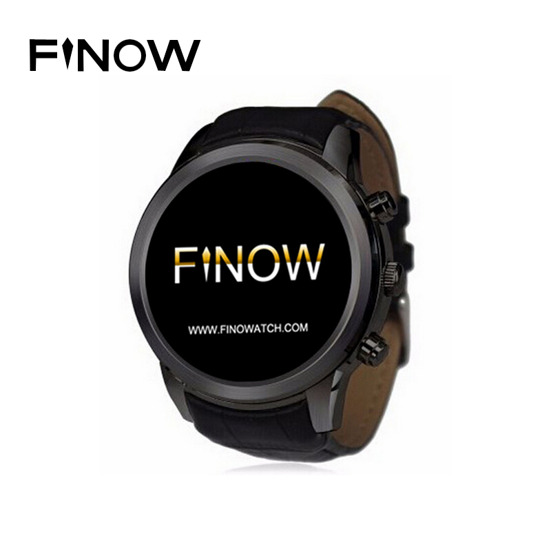 Finow X5 Original Smart Watch K18 upgrade 1 4 AMOLED Android 3G WiFi Bluetooth WCDMA font