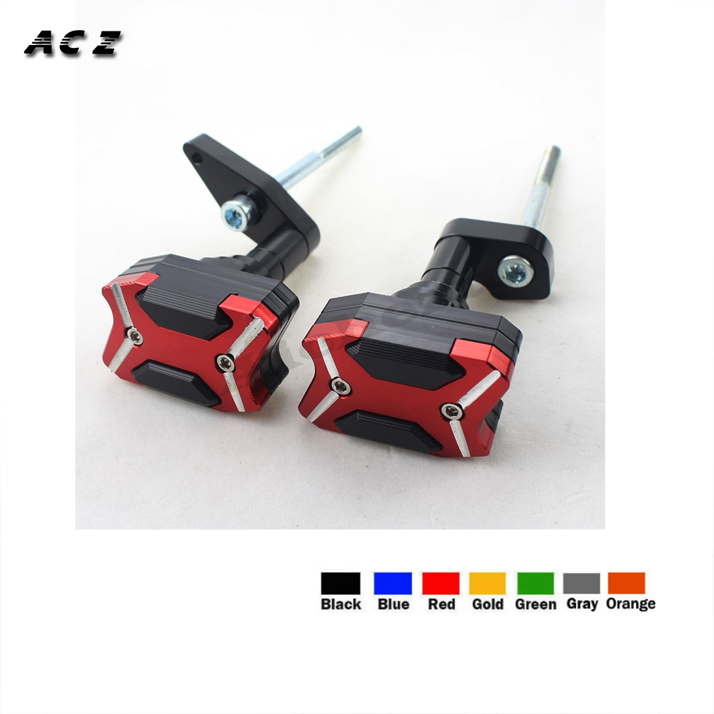 ACZ Motorcycle CNC Left&Right Frame Slider Anti Crash Protector Falling Protection For KAWASAKI ER 6N ER6N ER 6N 2012 2016-in Covers & Ornamental Mouldings from Automobiles & Motorcycles    1