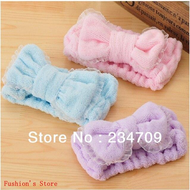 Han edition bowknot Microfiber hair accessories/make-up bath wash headbands/headbands for women/bandanas,1 pcs/lot