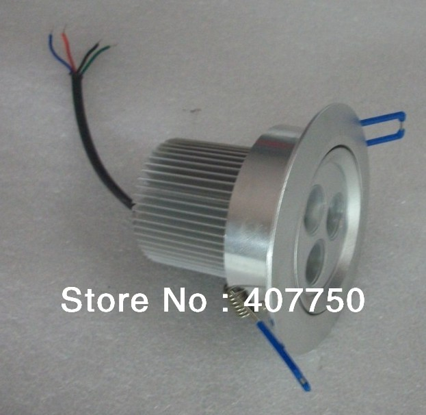 high pwer rgb dmx low voltage rgb 3in1 3X3W led ceiling light DC 12V used for commercial lighting