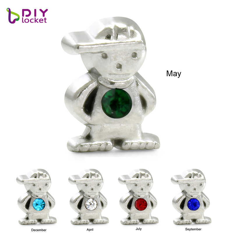 8MM Boys ,girl, and birthstone of various shapes Floating charms Zinc Alloy Fit Floating lockets & Floating locket bracelet
