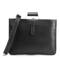Black Brown Genuine Leather Briefcase For Man Vintage Men Messenger Bag Business Bags Male Tote A4 Document Case Handbags 6077