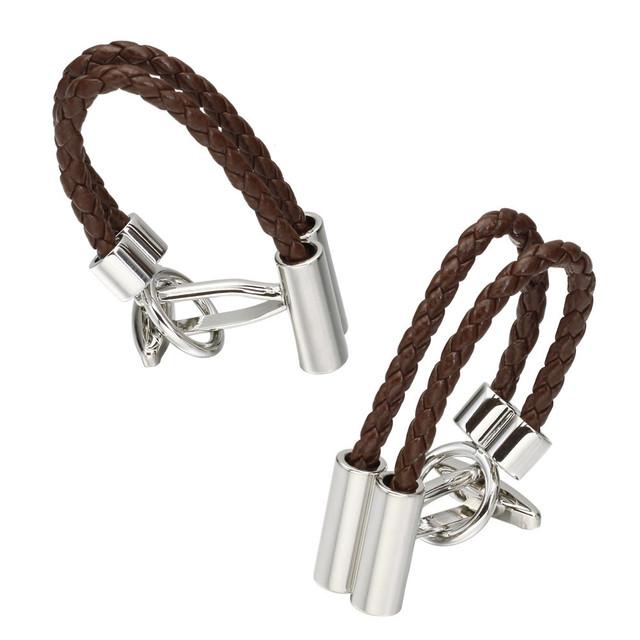 Memolissa Luxury Shirt Brown Rope Cufflink Cufflinks Husband High Abotoaduras Jewelry