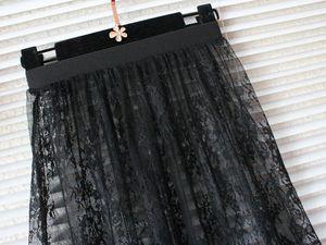 Image 4 - skirts womens summer lace mesh skirt korean sexy tulle transparent beach cover up high waist short pencil black white mini skirt