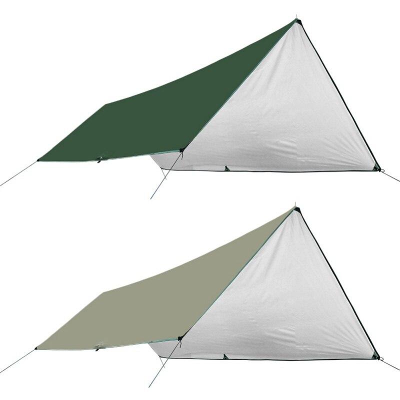 Tente pluie auvent ultraléger bâche extérieur Camping survie abri soleil ombre auvent revêtement argenté Pergola étanche tente de plage