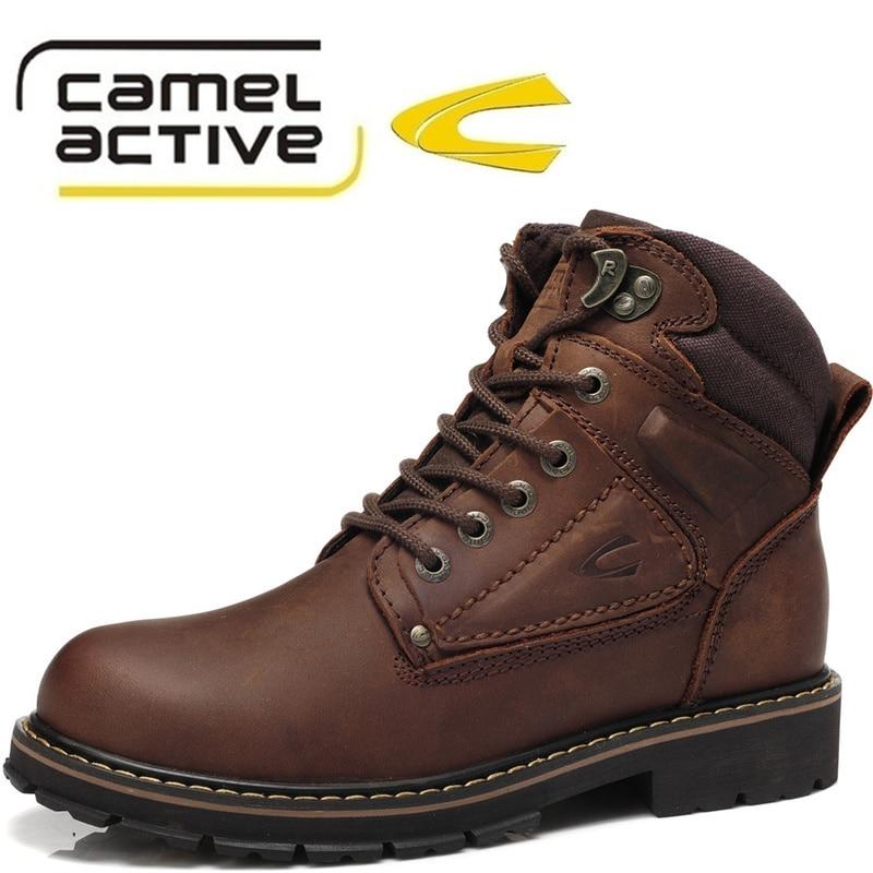 c1e25accd Топ моды новой зимней теплой непринужденной мужчины обувь camel active  бренд подлинного leaher сапоги снег мужчин