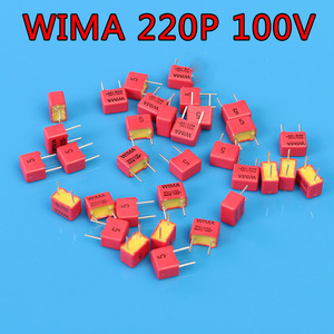 Image 1 - 10 шт. WIMA 220pF 100V FKP2 221/n22/220p немецкая Hi Fi аудиосвязь
