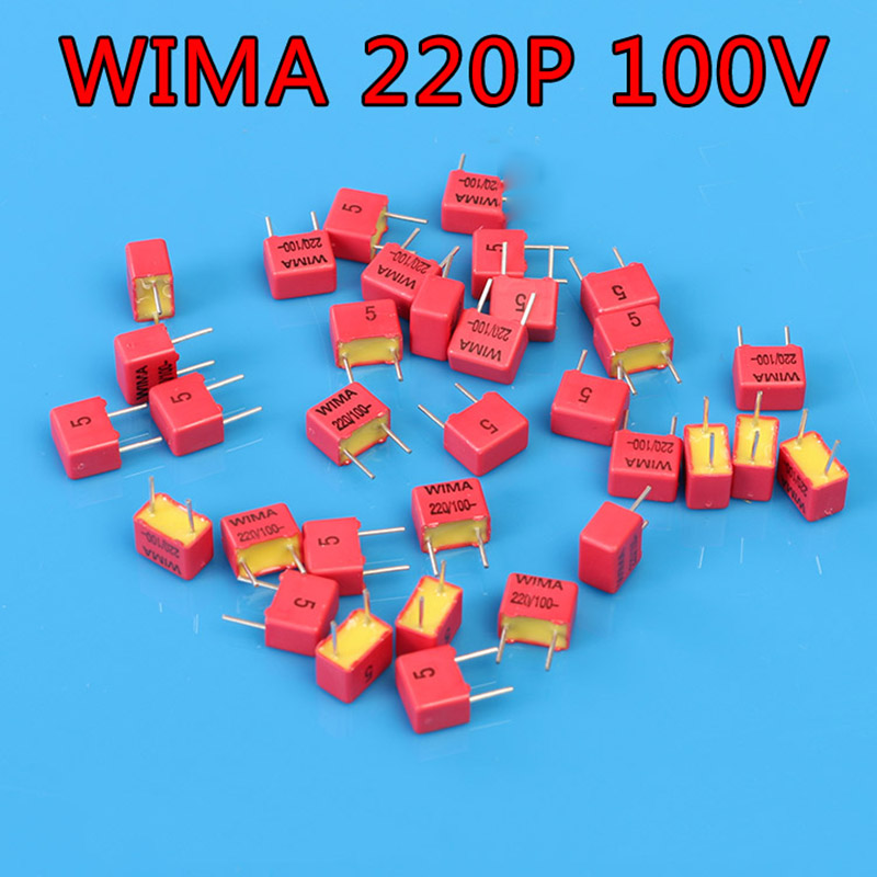 10PCS  WIMA 220pF 100V  FKP2 221 n22 220p German HiFi Audio Fever Capacitor Coupling Capacitor Free Shipping