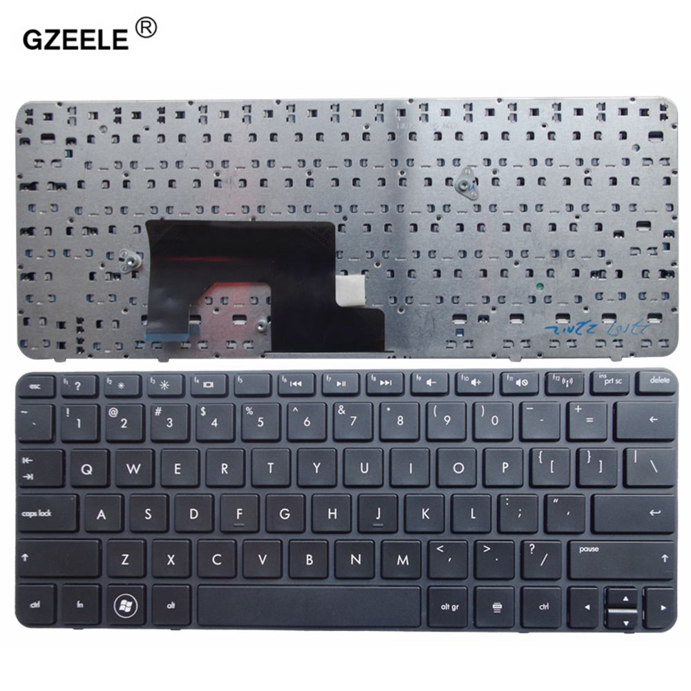 GZEELE New English Laptop Keyboard For HP Mini 110 3538TU 210-2000 Mini 110-3748tu HSTNN-F05C 633476-001 647569-001 110-3300