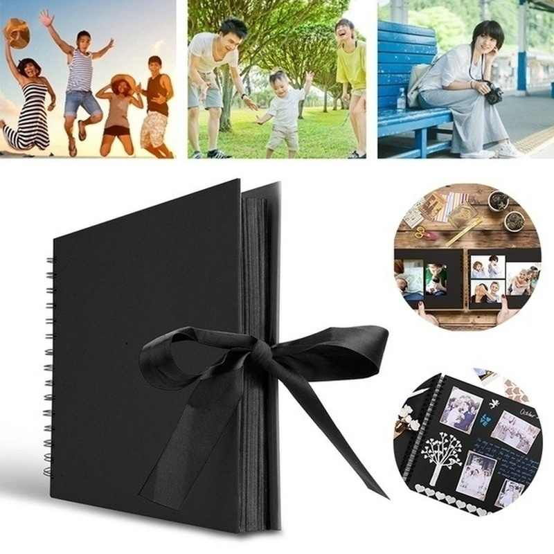 1PC Photo Albums Scrapbook Paper DIY Craft Album Scrapbooking Picture Album for Wedding Anniversary Gifts Memory Books