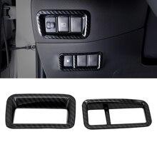 lsrtw2017 carbon fiber abs car headlight adjuster frame trims chrome for toyota C-HR CHR 2016 2017 2019 2018 2020