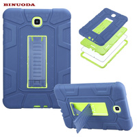 New For Galaxy Tab A 8 0 Cover Case Hybrid Rubber Plastic Silicone Shockproof Case For