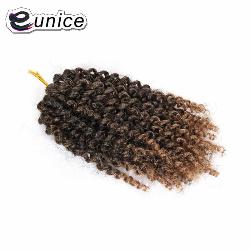 """Eunice 8 """"Вьющееся кружево наращивание волос Malibob вязанные пряди Омбре 27/613 блонд синтетические плетеные волосы 20 прядей/шт"""