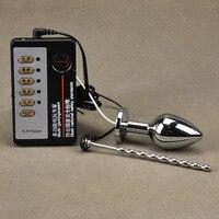 DIY Électrique Choc En Acier Inoxydable Anal Plug & Urètre Cathéter pénis Plug Électro Choc Plug Anal Massage Sex Toys Pour hommes
