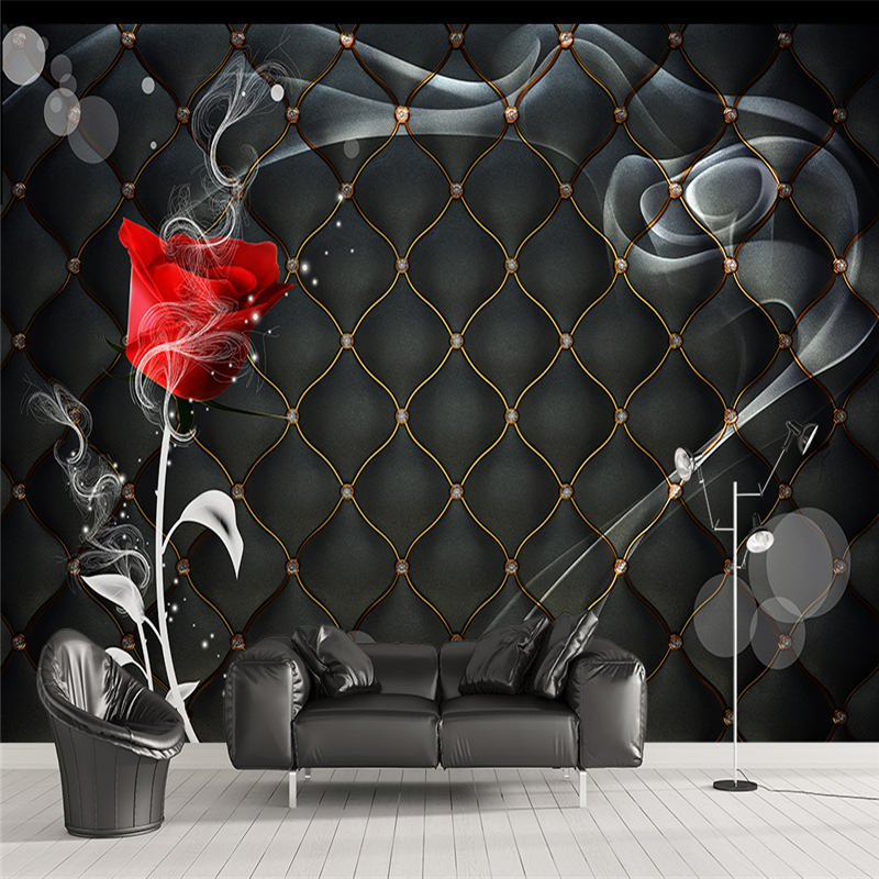 Online buy wholesale black roses wallpaper from china for Cheap black wallpaper