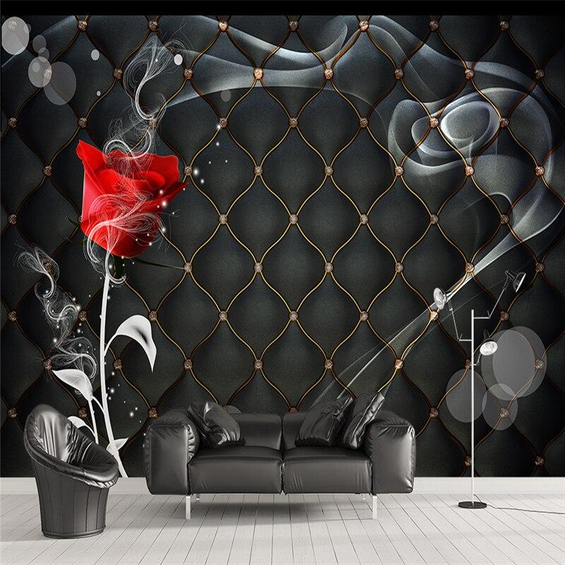 online kaufen großhandel schwarz rosen tapete aus china schwarz ... - Rosentapete Schlafzimmer