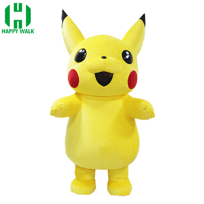 New Pikachu Inflatable Costume Inflatable Pikachu For Advertising 2 2M Tall Customize For Adult Suitable For