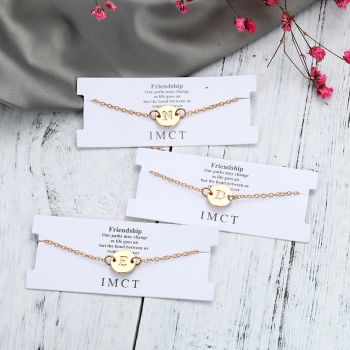 Fashion Gold Color Letter Bracelet & Bangle
