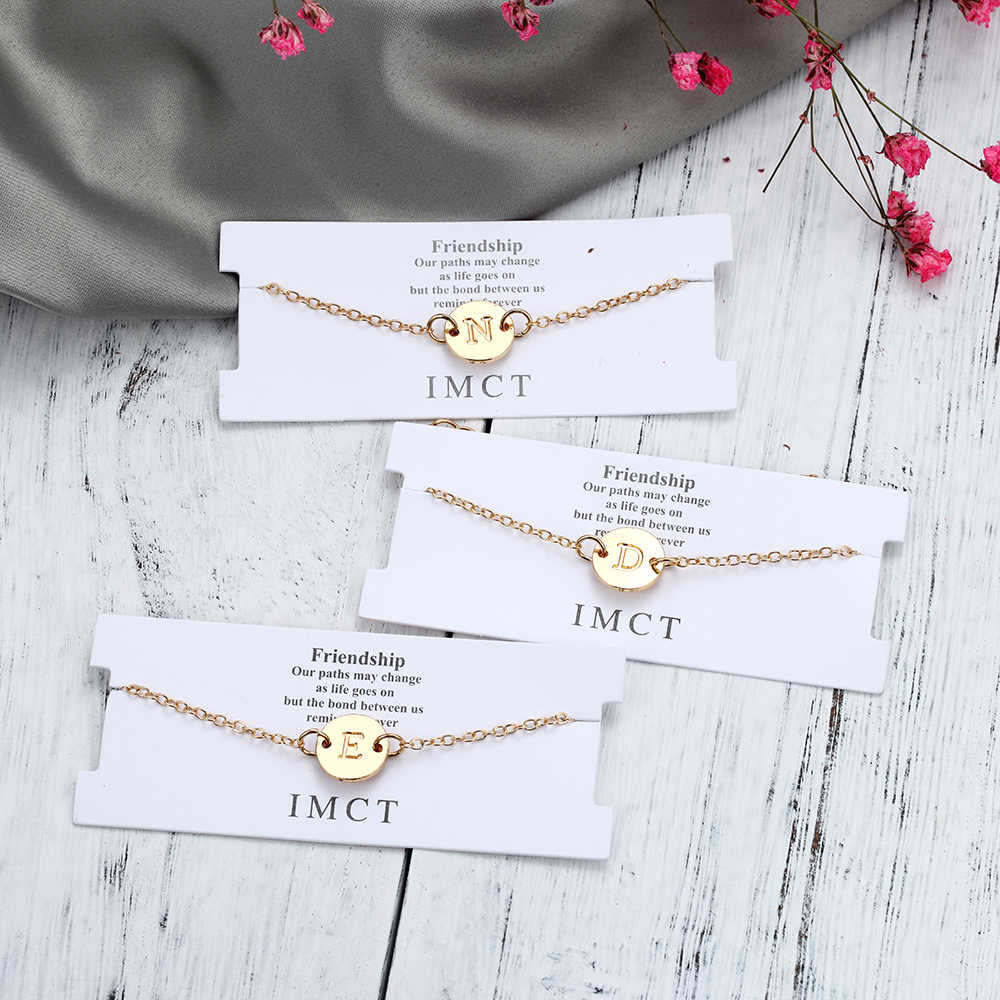 Fashion Gold Color Letter Bracelet & Bangle For Women Silver Adjustable Name Bracelets Jewelry Female Gift Bracelets Womem