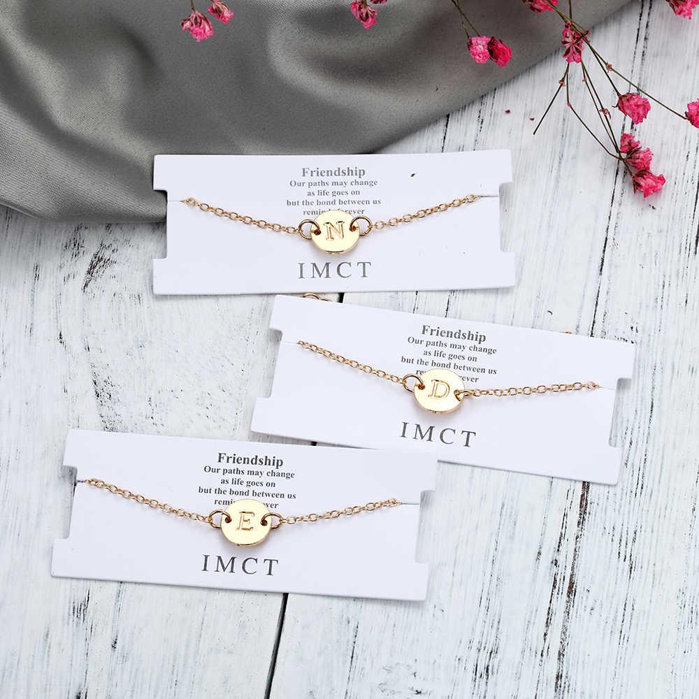 ファッションゴールドカラーの手紙ブレスレット & バングル女性シルバー調節可能な名ブレスレットジュエリーの女性のギフトブレスレット Womem