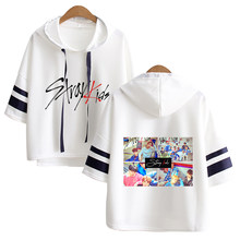 Stary kids kpop hoodies Riverdale Short Sleeve harajuku Fashion hoodies Women Cool Spring/Summer pentagon kpop Clothes Hip Hop(China)