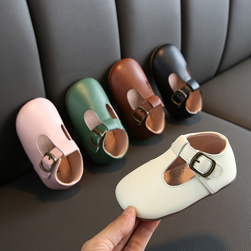 Children's Shoes Autumn Girls Baby Korean Shoes Leather Shoes Single Shoes Soft Bottom Princess Toddler Shoes