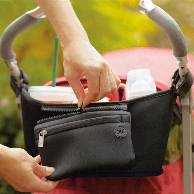 Pushchair Baby Accessories Bag Changing Pram Stroller organizer Buggy Storage Pushchair Bottle Cup Organizer Bag cart 3
