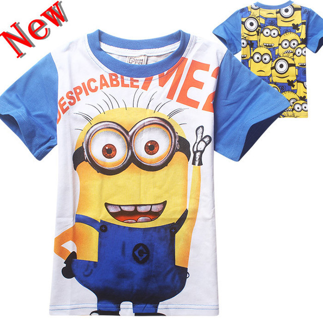 2016 Despicable me 2 Minions baby boys girls nova t-shirts kids children t shirt infantis vetement garcon meninos roupas bebes