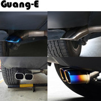 Car Cover Muffler Exterior End Black Pipe Dedicate Stainless Steel Exhaust Tip Tail Moulding 1pcs For