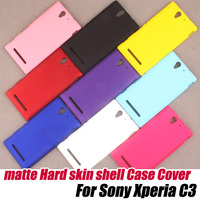 Matte frosted Hard shell protective Case Cover For Sony Xperia C3,free shipping