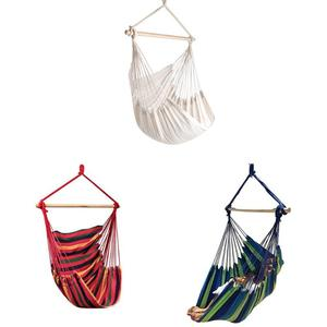 Image 4 - Гамак для кемпинга на открытом воздухе, для сада, для домашнего путешествия, гамак, подвесная кровать, парусиновая веревка в полоску, для сна, отдыха, хамака, гамаки