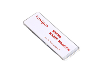 60*25mm Magnetic Company Brand Student Worker Employee Id Name Card Holder Business Identification Card Frame Chest Badge 2016 new aluminium alloy employee worker id card holder with lanyard