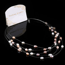 2019 New Multilayer Crystal Pearl  Necklaces for Women Vintage Charm Choker Necklace