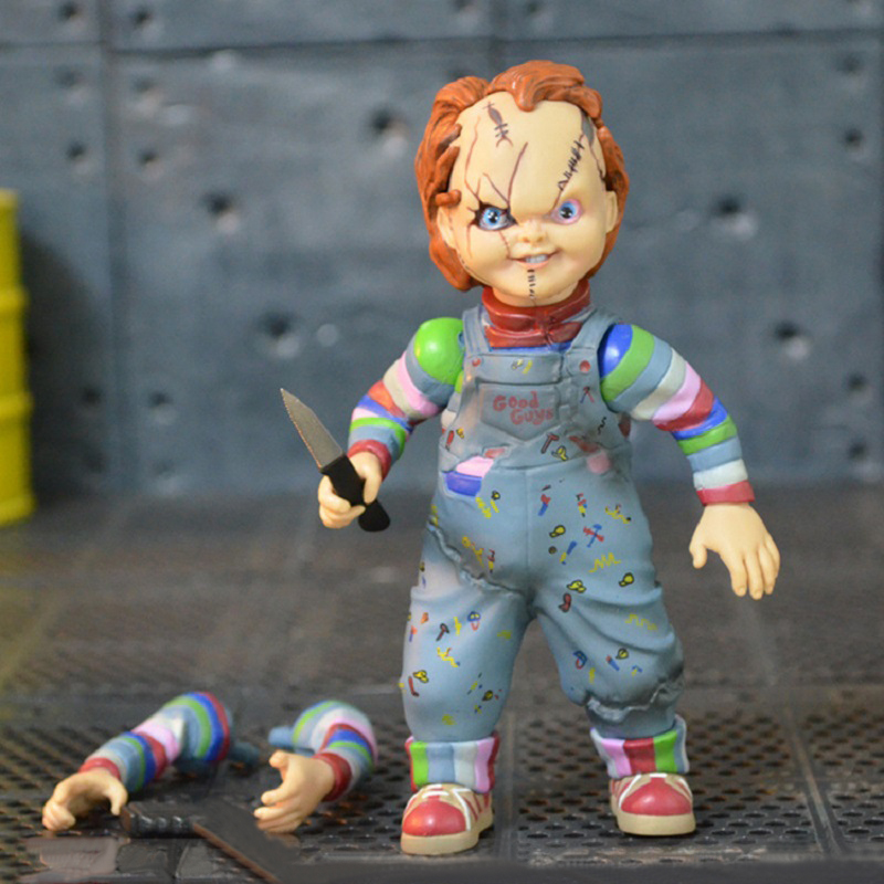 Hot Movie Child's Play Chucky Pvc Action Figure Toy Anime Terrible Children Chucky Display Model Toys Birthday Brinquedos Gift les enfants pj racing mission cruiser car dessin maskmm toy anime pj car big truck display jouet children bithday gift toys