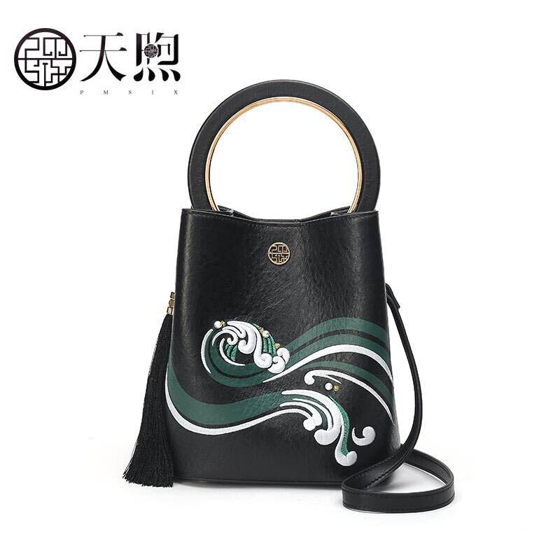PMSIX 2018 New woemn leather bag fashion bags handbags women famous brands Bucket bag tote women handbag shoulder bag стоимость