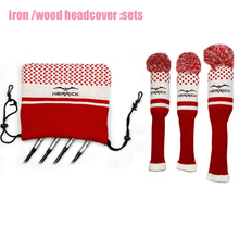 Nouveaux Clubs de Golf Fairway couvre chef en bois à tricoter laine couvre 1 #3 #5 # couvre fers couvre chef accessoires de Golf livraison gratuite