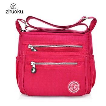 Chaud!! 2018 femmes Messenger sacs bonne qualité nylon Crossbody femmes sac étanche voyage épaule sacs 11 couleur sac a main ZK735